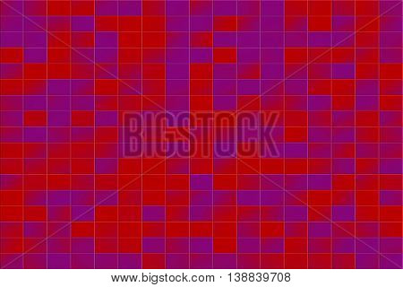 Illustration of a purple and red tiled background