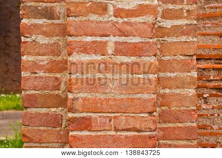 brick wall and mortar of a traditional style building comfortable and durable