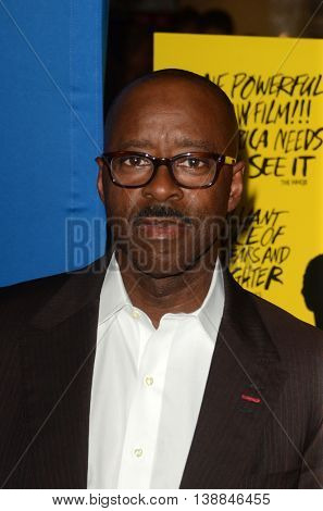 LOS ANGELES - JUL 14:  Courtney B. Vance at the Gleason LA Premiere Screening at the Regal 14 Theaters at LA Live on July 14, 2016 in Los Angeles, CA