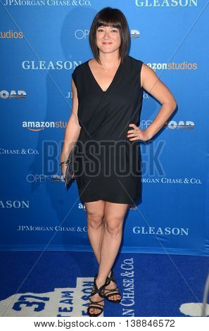 LOS ANGELES - JUL 14:  Mary Rohlich at the Gleason LA Premiere Screening at the Regal 14 Theaters at LA Live on July 14, 2016 in Los Angeles, CA