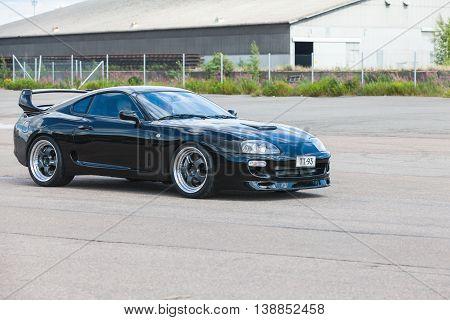 Black Sporty Toyota Supra A80