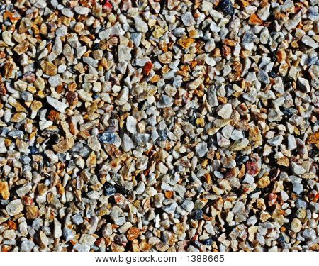 abstract photo of close-up pebbles textured background poster