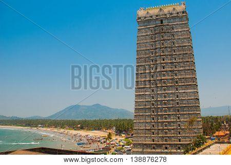 Raja Gopuram Tower. Murudeshwar. Karnataka, India
