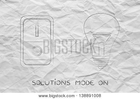 Idea Lightbulb With Switch On
