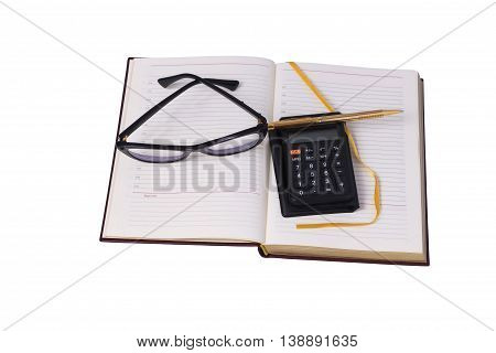 Isolated set of office worker on a white background.