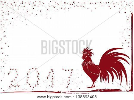 vector 2017 new year background with rooster