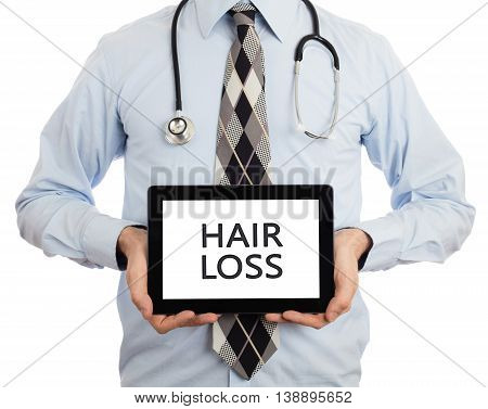 Doctor Holding Tablet - Hair Loss