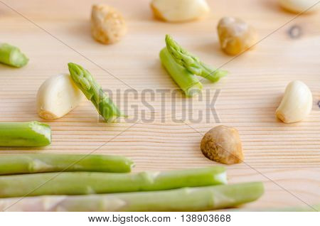 Abstract Design Background Vegetables On Wooden Background