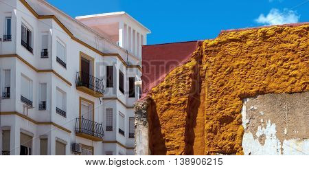 Old and new architecture in Ronda (Andalusia Spain).