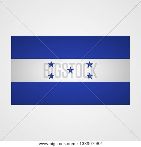 Honduras flag on a gray background. Vector illustration