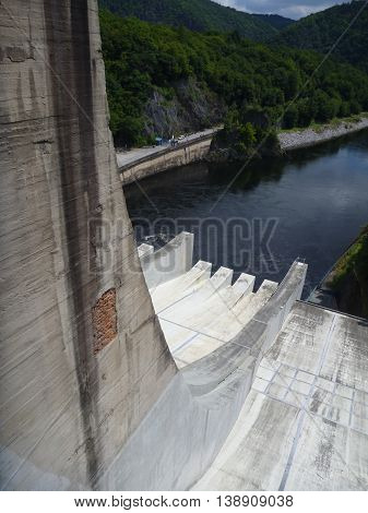 Outflow From Slapy Dam In Czech Republic