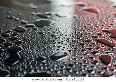 Water Droplets from rain water indicating raining season