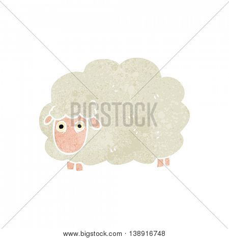 freehand retro cartoon farting sheep