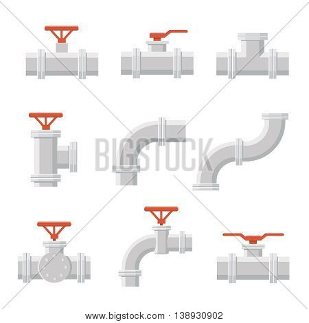 Vector icon of pipe connector for plumbing and piping work.