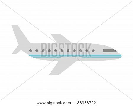 plane airplane flying icon vector isolated graphic