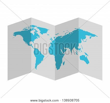 map paper guide icon vector isolated graphic