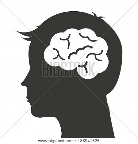 brain storming mind icon vector isolated graphic