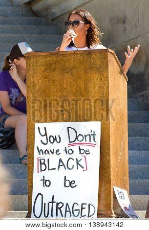 Black Lives Matter Speaker At The Capital