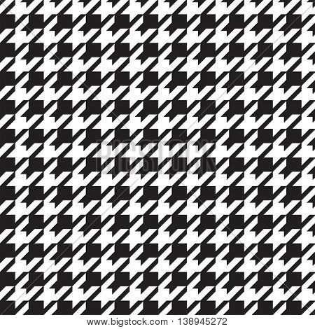 houndstooth black and white seamless pattern