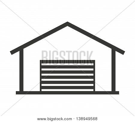 building warehouse storage icon vector isolated graphic