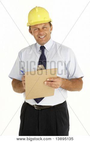 Porträt einer Foreman schriftlich auf einer Tafel