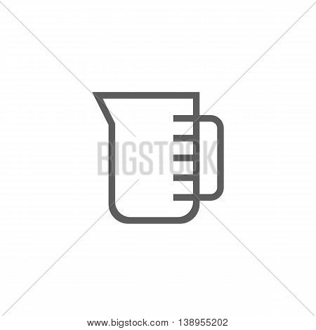 Vector illustration of measuring cup icon on white background