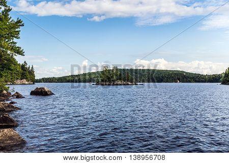 Lac Long Quebec Canada landscape at summer