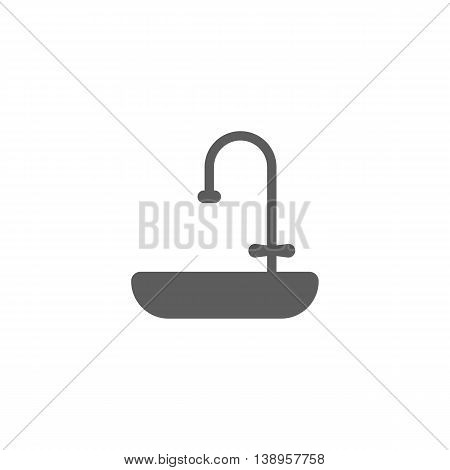 Vector illustration of sink icon on white background