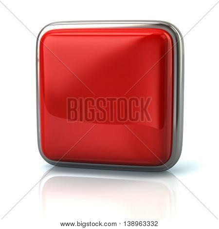 3d illustration. Red web button isolated on white background