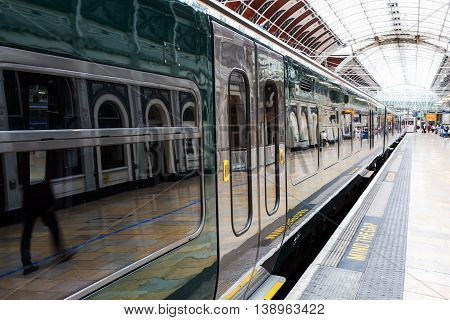 Train At Paddington Station In London
