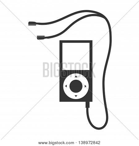 MP4 music player , isolated flat icon vector illustration