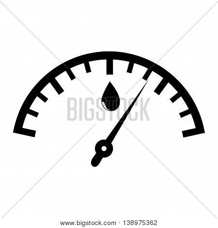Fuel quantity indicator black and white colors isolated flat icon