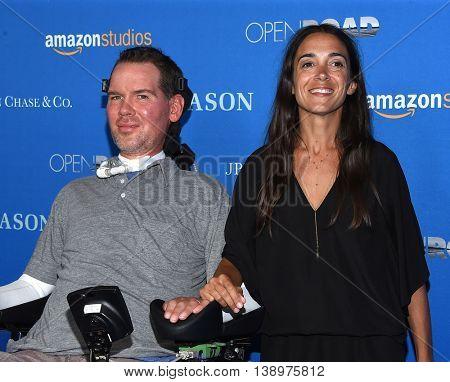 LOS ANGELES - JUL 14:  Steve Gleason & Michel Varisco arrives to the