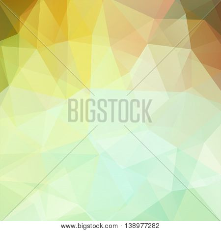 Abstract Background Consisting Of Yellow, Light Green Triangles, Vector Illustration