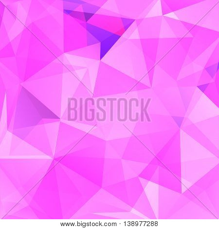 Abstract Background Consisting Of Pink Triangles, Vector Illustration