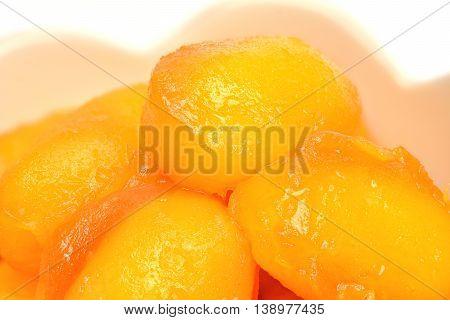 Jackfruit seed dessert (Thai dessert : Met Khanoon)