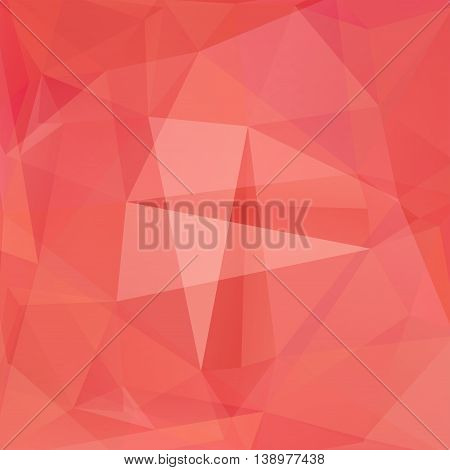 Abstract Background Consisting Of Triangles, Vector Illustration. Light Red Color.