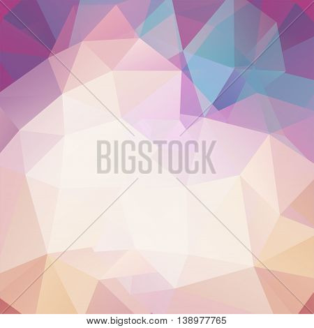 Abstract Background Consisting Of Light Triangles, Vector Illustration
