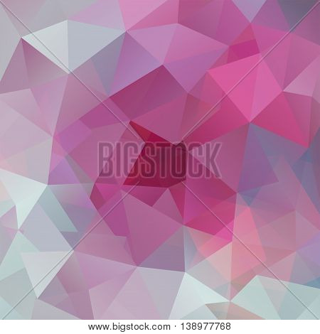 Abstract Background Consisting Of Triangles, Vector Illustration. Pink, White Colors.