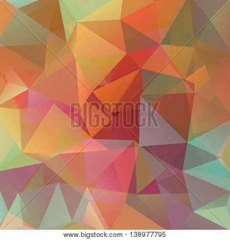 Abstract Background Consisting Of Autumn-colored Triangles, Vector Illustration