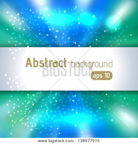 Vector Illustration Of Abstract Background With Blurred Magic Light Rays. Blue Color.