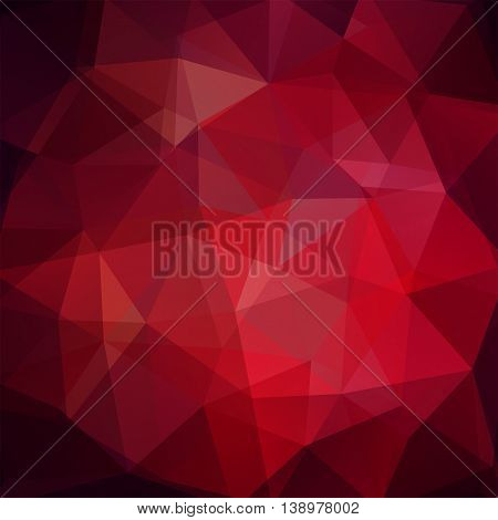 Background Made Of Triangles. Square Composition With Geometric Shapes. Eps 10 Dark Red Color.