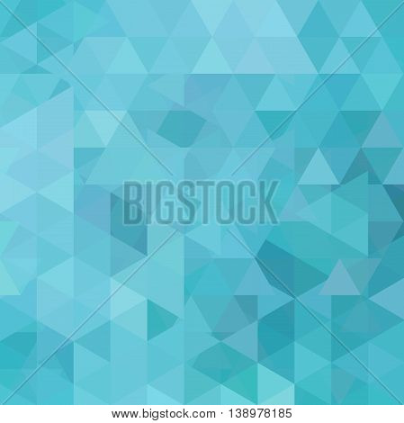 Background Made Of Triangles. Square Composition With Geometric Shapes. Eps 10 Blue Color.