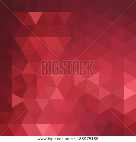 Geometric Pattern, Triangles Vector Background In Red And Brown Tones.