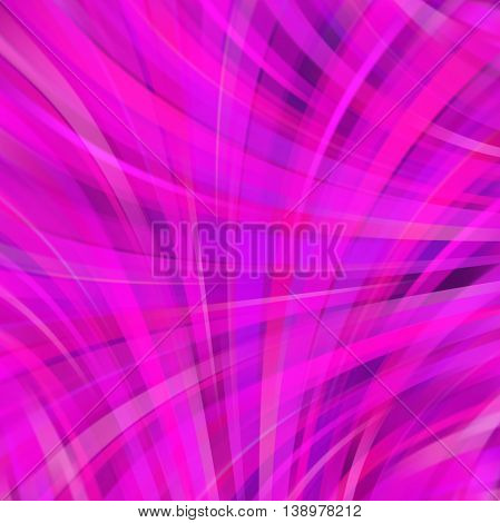 Smooth Light Lines Background. Pink Colors. Vector Illustration.
