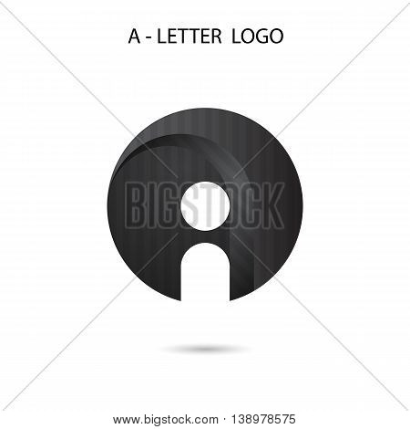 A-letter icon abstract logo design.A-alphabet symbol.Vector illustration