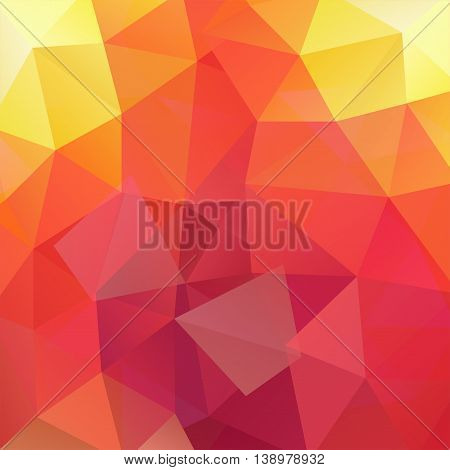 Abstract Background Consisting Of Yellow, Orange, Red Triangles, Vector Illustration