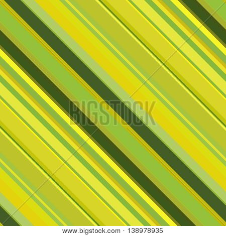 Seamless Abstract Background With Green, Yellow Stripes, Vector Illustration