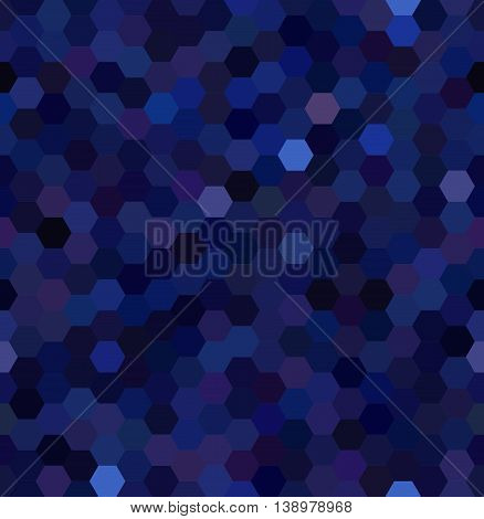 Seamless Abstract Mosaic Background. Hexagons Geometric Backdrop. Design Elements. Vector Illustrati
