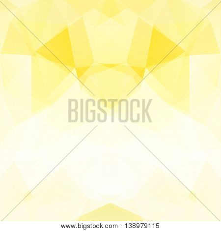 Light Background Made Of Triangles. Square Composition With Geometric Shapes. Eps 10 Yellow, White C